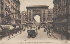 rue du Faubourg-Saint-Denis - Paris 10e - La rue du Faubourg-Saint-Denis tout près de la Porte Saint-Denis, vers 1900.