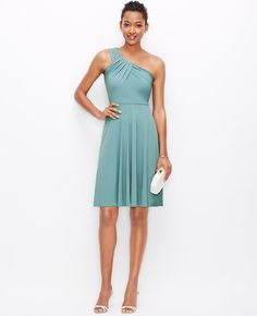 Image of One Shoulder Jersey Dress