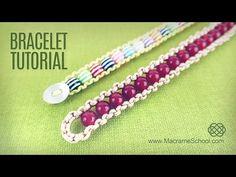How to make Easy Beaded Bracelet (DIY) Macrame School - YouTube