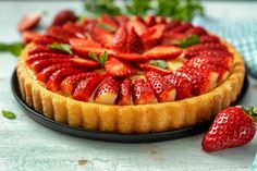 Tart, Sweet Tooth, Cheesecake, Muffin, Food Porn, Good Food, Strawberry, Baking, Recipes
