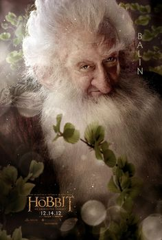 Balin - The Hobbit: An Unexpected Journey - Character Poster Gandalf, Le Hobbit Thorin, Bilbo Baggins, Hobbit Dwarves, Thorin Oakenshield, The Hobbit Characters, The Hobbit Movies, Tauriel, Lord Of Rings