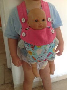 sew bossi: Baby doll carrier tutorial. Add a pocket and it's perfect