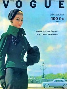 Vogue Paris October 1952, photo Robert Doisneau