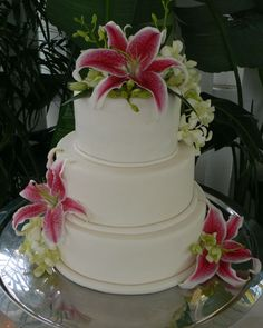 WEDDING CAKE HAWIAN THEME | Matt & Dom's custom wedding cakes birthday cakes novelty cakes gifts ...