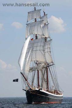 """Morgenster"" at Hanse Sail Rostock - Tall Ship ""Morgenster"" at Hanse Sail Rostock -Tall Ship ""Morgenster"" at Hanse Sail Rostock - Tall Ship ""Morgenster"" at Hanse Sail Rostock - ""Stad Amsterdam '' Clipper from Holland Letter Of Marque, Hanse Sail, Old Sailing Ships, Ice Climbing, Sail Away, Speed Boats, Tall Ships, Kayaking, Lighthouse"