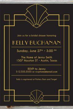 art deco wedding invitations - Google Search