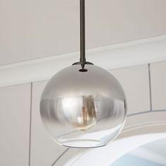 Sculptural Glass Globe Pendant - Metallic Ombre
