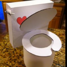 Toilet Valentines Box.  This just makes me giggle for anyone that knows Chance's obsession with flushing the toilet.