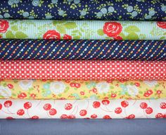 Happy Go Lucky Fabric bundle by Bonnie and Camille by fabricshoppe, $35.00