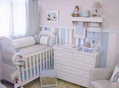 Resultado de imagem para quartos de bebe azul,bege e branco