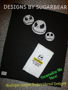 Hey, I found this really awesome Etsy listing at https://www.etsy.com/listing/184913093/jack-skellington-baby-diaper-changing