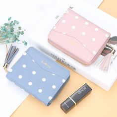 Baellerry Women Short Coin Purse Dot Wallet Tassel Card Holder sales at a good price. Come to Newchic to buy a wallet, more cheap women wallets are provided online. Cat Wallet, Black Leather Pants, Kawaii Accessories, Kawaii Stationery, Mini Backpack, St Kitts And Nevis, Wallets For Women, Random Things, Bb