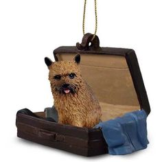 Norwich Terrier Dog Breed Tag Along Carrycase Ornament