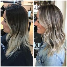 50 Amazing Balayage Highlights and Haircolors To Try 2019 balayage hair brunette; dark and straight balayage hairstyles; Hair Color Highlights, Ombre Hair Color, Hair Color Balayage, Cool Hair Color, Caramel Highlights, Babylights Blonde, Growing Out Highlights, Brunette To Blonde Highlights, Blonde For Brunettes