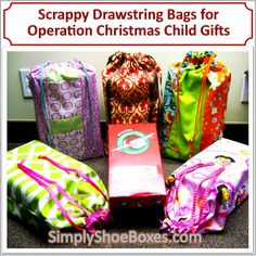 Simply Shoe Boxes: Simple Drawstring Tote-bag to Hold a Shoe Box ~ Illustrated Instructions & Pattern