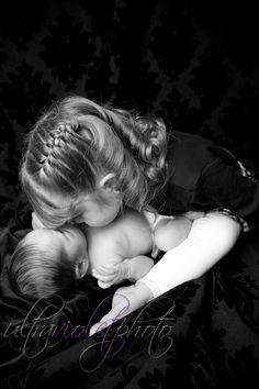 big sister kisses