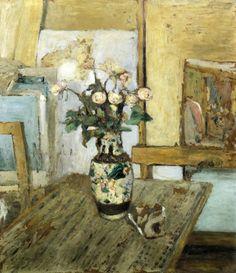 peira:Edouard Vuillard: Vase of Flowers (1903) via Wikipainting