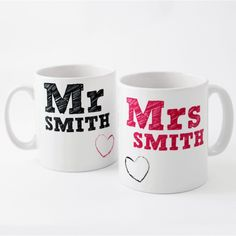 Are you in search of a lovely keepsake gift perfect for wedding or anniversary occasions? Shop our exclusively designed 'Mr and Mrs' tea mug set, which you can personalise, for the ultimate romantic gift!