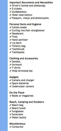 Who couldn't use an interactive packing list? | Black Blog of Travel