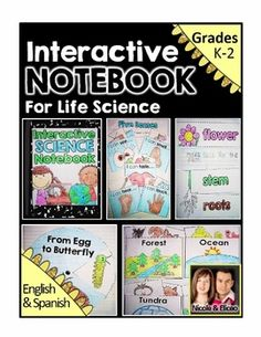 Fun interactive notebook / journal activities for  Life science!. Includes foldables, pockets, flaps, spinners, & cut & paste activities!