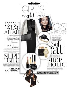 """""""Girl's Night Out: Beauty Edition - 1"""" by belleforcible on Polyvore featuring Harrods, Tom Ford, Dion Lee, Gianvito Rossi, Arlington Milne, Bobbi Brown Cosmetics, Michael Kors, Stila, Christian Dior and Bare Escentuals"""