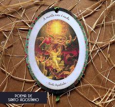 Santinho Estilo Retrô - Poema de Santo Agostinho sobre a morte.