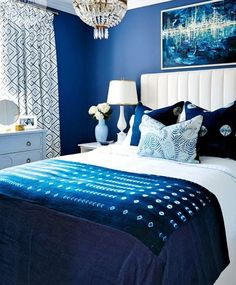 Blue & White bedroom ideas #Croscill