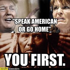 Funniest Donald Trump Memes: Trump and Palin: Speak American or Go Home