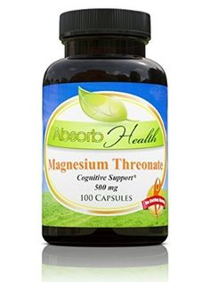 Magnesium Threonate | 500mg |100 Capsules | Most Absorbable Form | Memory Nootropic