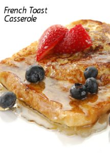 Sunny Anderson turned french toast on its head with her French Toast Casserole Recipe!