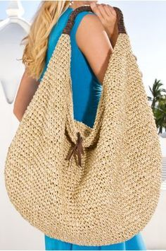 Metallic hand-crocheted bag at Boston Proper