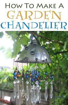 DIY How To Make A Garden Chandelier