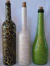 Image result for garrafas decoradas craqueladas