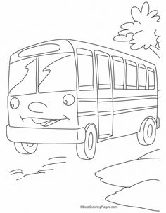 This bus is waiting for the riders coloring pages | Download Free This bus is waiting for the riders coloring pages for kids | Best Coloring Pages