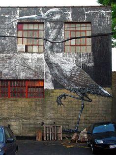 Roa's Walls in NYC - unurth | #streetart #roa