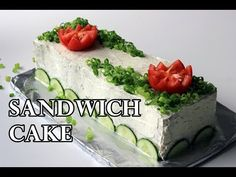 Easy To Make Delicious Scandinavian Sandwich cake Recipe Sandwich Torte, Sandwich Recipes, Cake Recipes, Tuna Recipes, Finnish Recipes, Russian Recipes, Party Sandwiches, Delicious Sandwiches, Norwegian Food