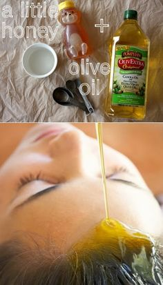 PinTutorials: DIY Olive Oil and Honey Hair Mask