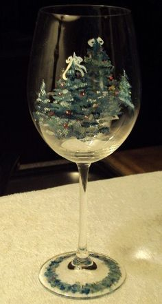 Handpainted Wineglass or Water Goblet by MaryAnnBrowningFord, $15.00
