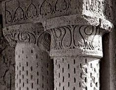 Column capital at the ruins of the No Gombad mosque, Balkh (ninth century)