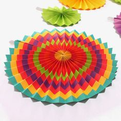 Fiesta Paper Fan Decoration Cinco de Mayo Mexican Spanish Christmas Party Supply