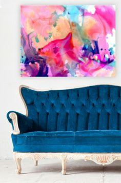 Nebula canvas art print