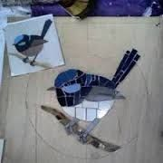 Image result for blue wren mosaic