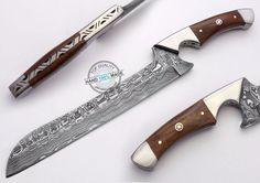 "12.00"" Custom hand made beautiful Damascus steel Chef Kitchen Knife (FSL-104-15) #KnifeArtist"