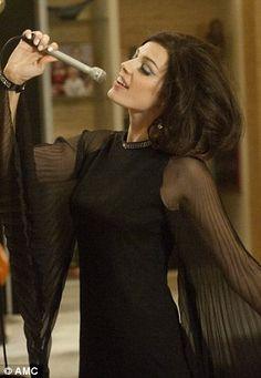Megan Draper, Mad Men, wearing NARS Heart of Glass  NARS Desire blush  NARS Belle Du Jour Velvet Matte pencil