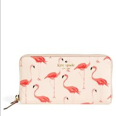 Kate spade cedar street flamingo wallet  Perfect for summer!! Never used kate spade Bags Wallets