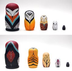 Owl nesting dolls. Now I'm looking for nesting dolls to repaint.