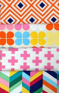 print & pattern: FABRICS - geo pop canvas emmie K // robert kauffman, october 2014