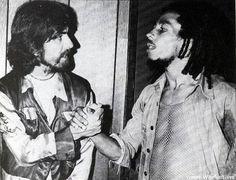 Bob Marley & Ras Beatle! George Harrison 1975 LA.