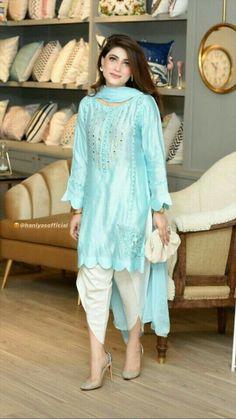Simple Pakistani Dresses, Pakistani Fashion Casual, Pakistani Bridal Dresses, Pakistani Dress Design, Beautiful Dress Designs, Stylish Dress Designs, Beautiful Hijab, Long Dress Fashion, Indian Fashion Dresses
