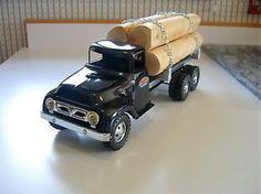 Old Vintage Tonka custom log hauler truck Very nice logging truck  | eBay